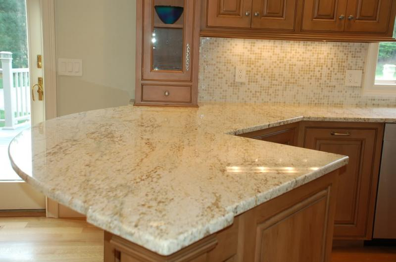 Colonial Cream Granite Kitchen Countertop