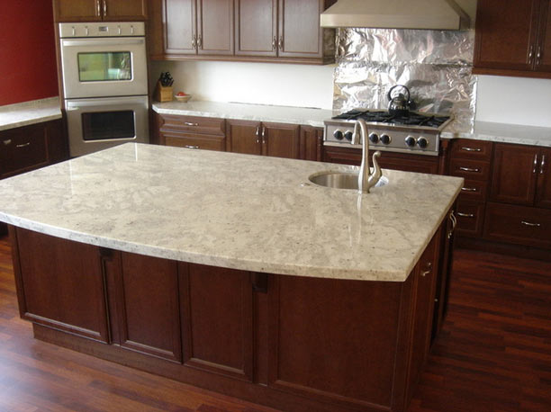 Colonial cream granite buy granites - Black granite countertops with cream cabinets ...